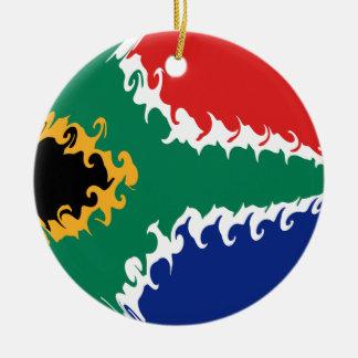 南アフリカ共和国のすごい旗 陶器製丸型オーナメント