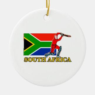 南アフリカ共和国のコオロギプレーヤー セラミックオーナメント