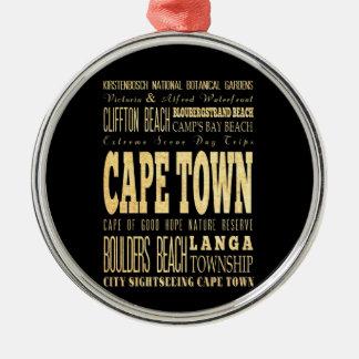 南アフリカ共和国のタイポグラフィの芸術のカフェの町都市 メタルオーナメント