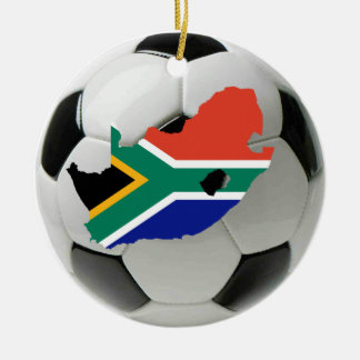 南アフリカ共和国のフットボールのサッカーのオーナメント セラミックオーナメント