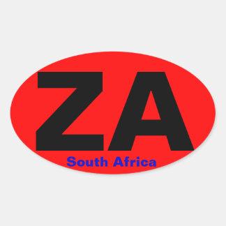 南アフリカ共和国のヨーロッパ式の楕円形のステッカー 楕円形シール