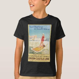 南アフリカ共和国のヴィンテージで浸る波 Tシャツ