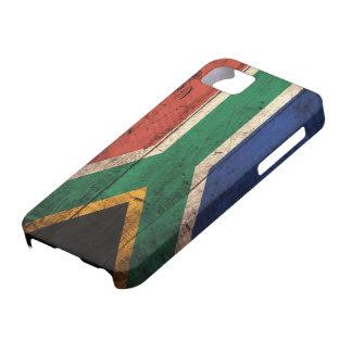 南アフリカ共和国の古い木の旗 iPhone SE/5/5s ケース