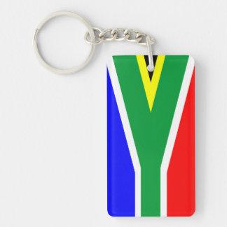 南アフリカ共和国の国旗の国家の記号の名前の文字 長方形(片面)アクリル製キーホルダー