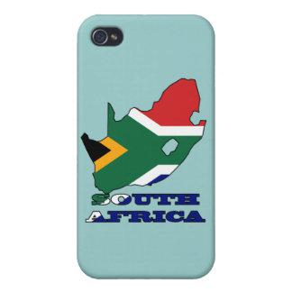 南アフリカ共和国の地図の旗 iPhone 4 COVER
