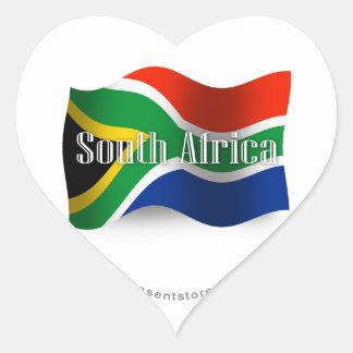 南アフリカ共和国の振る旗 ハートシール