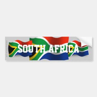 南アフリカ共和国の振る旗 バンパーステッカー