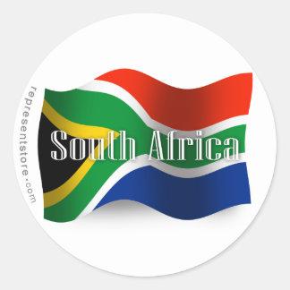 南アフリカ共和国の振る旗 ラウンドシール