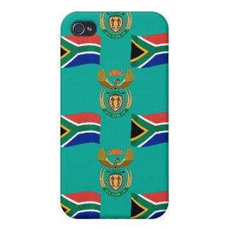 南アフリカ共和国の旗および頂上 iPhone 4/4S ケース