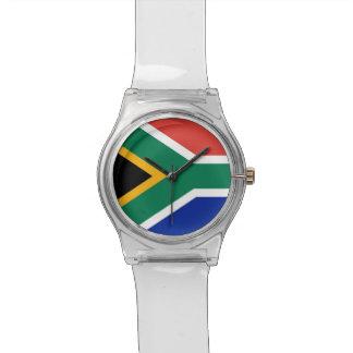 南アフリカ共和国の旗が付いている愛国心が強い子供の腕時計 リストウオッチ