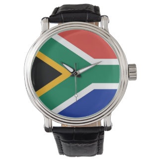 南アフリカ共和国の旗が付いている愛国心が強く、特別な腕時計 ウォッチ