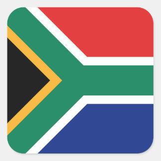 南アフリカ共和国の旗のステッカー スクエアシール