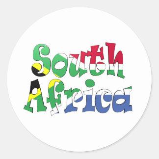 南アフリカ共和国の旗のステッカー ラウンドシール