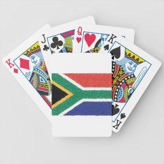 南アフリカ共和国の旗のテーマ バイスクルトランプ