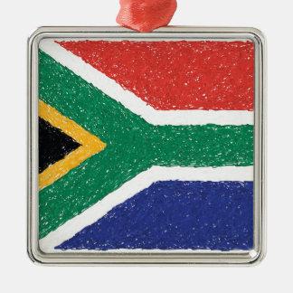 南アフリカ共和国の旗のテーマ メタルオーナメント