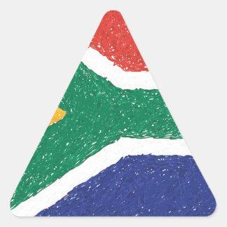 南アフリカ共和国の旗のテーマ 三角形シール