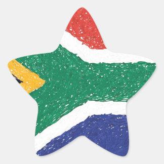 南アフリカ共和国の旗のテーマ 星シール