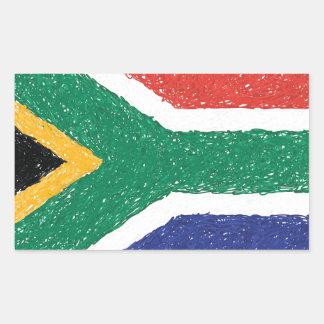 南アフリカ共和国の旗のテーマ 長方形シール