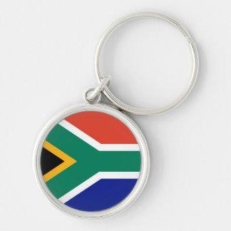 南アフリカ共和国の旗の報酬のkeychain シルバーカラー丸型キーホルダー