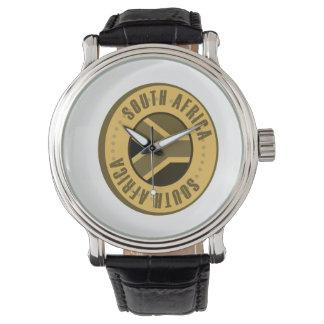 南アフリカ共和国の旗の金貨 腕時計