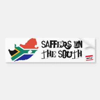 南アフリカ共和国の旗3、meetup_logo_100_white_1、Sa… バンパーステッカー