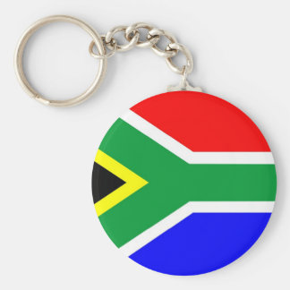 南アフリカ共和国の旗 ベーシック丸型缶キーホルダー