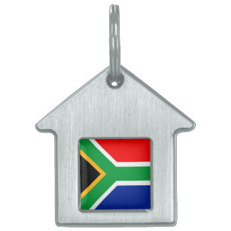 南アフリカ共和国の旗 ペットネームタグ