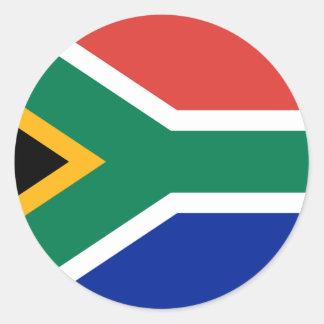 南アフリカ共和国の旗 ラウンドシール