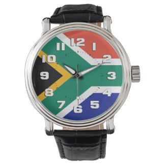 南アフリカ共和国の旗 腕時計