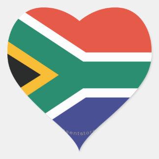 南アフリカ共和国の明白な旗 ハートシール