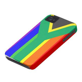 南アフリカ共和国の陽気で誇りを持ったな虹の旗の国 Case-Mate iPhone 4 ケース