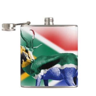 南アフリカ共和国のSpringbuckの旗のフラスコ フラスク