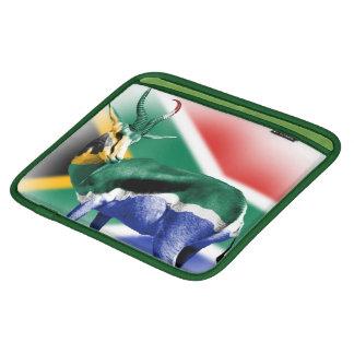 南アフリカ共和国のSpringbuckの旗の人力車の袖 iPadスリーブ