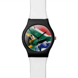 南アフリカ共和国のSpringbuckの旗の腕時計 リストウォッチ