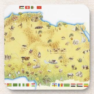 南アフリカ共和国2の地図 コースター