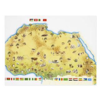 南アフリカ共和国2の地図 ポストカード