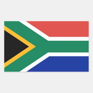 南アフリカ共和国*旗のステッカー 長方形シール