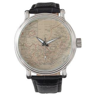 南アフリカ共和国(1880年)のヴィンテージの地図 腕時計