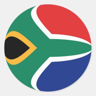 南アフリカ共和国Fisheyeの旗のステッカー ラウンドシール