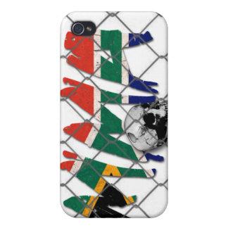 南アフリカ共和国MMAのスカルの白のiphone 4ケース iPhone 4/4S Cover