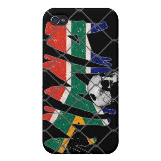 南アフリカ共和国MMAのスカルの黒のiphone 4ケース iPhone 4 ケース