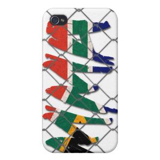 南アフリカ共和国MMAの白のiphone 4ケース iPhone 4 ケース