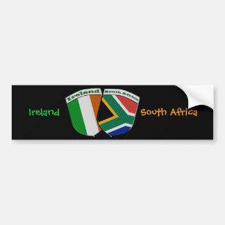 南アフリカ及びアイルランドの旗の友情のバッジ バンパーステッカー