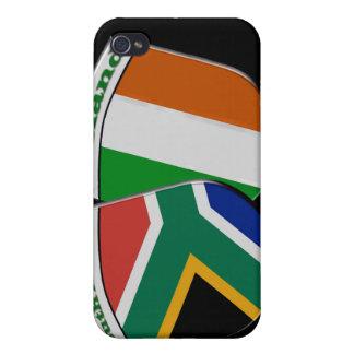 南アフリカ及びアイルランドの旗の友情のバッジ iPhone 4/4S カバー