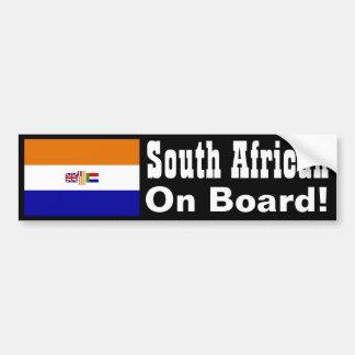 南アフリカ船上に! バンパーステッカー