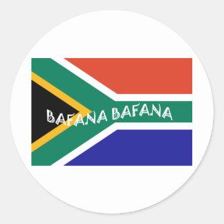 南アフリカBAFANAの旗 ラウンドシール