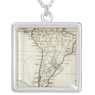 南アメリカおよび隣接した島 シルバープレートネックレス