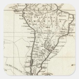 南アメリカおよび隣接した島 スクエアシール