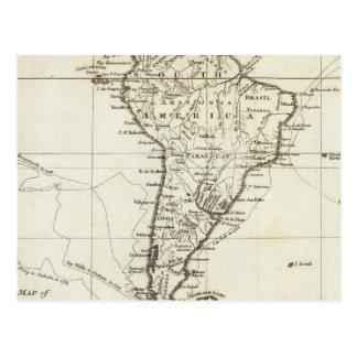 南アメリカおよび隣接した島 ポストカード
