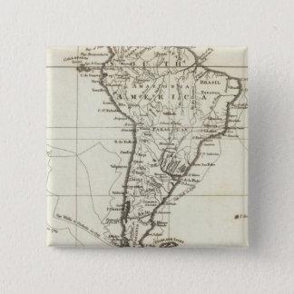 南アメリカおよび隣接した島 5.1CM 正方形バッジ